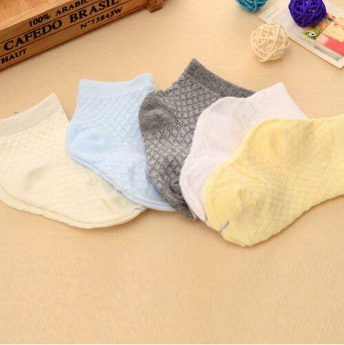5 Pcs Cute Children Mesh Soft Cotton Socks Breathable Comfortable Casual Socks