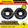 """9"""" Mechanical Trailer Backing Plate with Premium Brake Shoes -  Pair"""