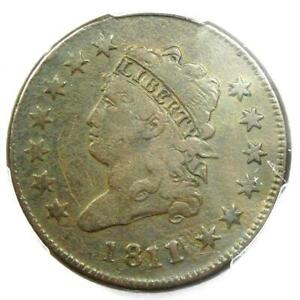 1811-0-Classic-Liberty-Head-Large-Cent-1C-PCGS-Fine-Details-Rare-Date-Coin
