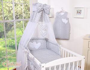 Details about My sweet Baby Lit pour bébé (set complet) set XXL de 13  pièces-Choix couleurs.,