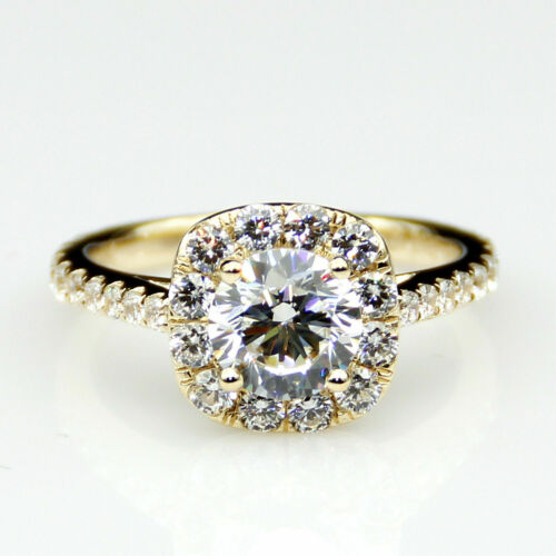 Details about  /2.85 ct Breliant Cut White Diamond Engagement Ring 14k yellow Gold Fn For Women