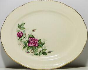 Vintage-Homer-Laughlin-Rose-Patterned-Serving-Platter-H51-N6