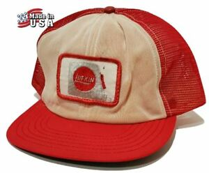 wholesale purchase cheap authentic quality Details about Vintage 60's-70's LUFKIN Snapback Trucker Hat Mens One Size