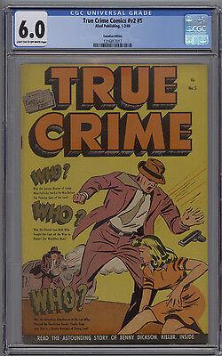 True Crime Comics # v2 # 5 CGC 6.0 FN Canadian Edition 1949 Alval Publishing