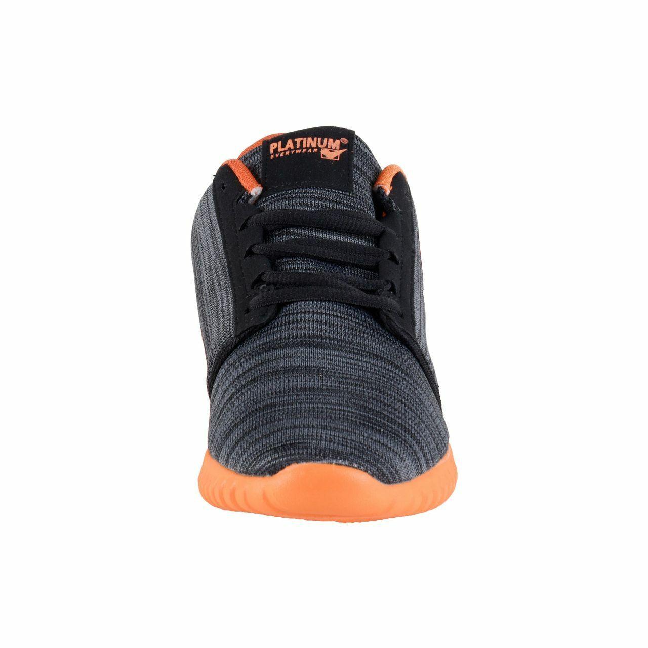 Platinum Femmes Chaussures Décontractées Baskets de Course, Noir Noir Noir Orange 9af8a3