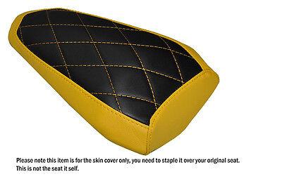 DIAMOND STITCH BLACK CUSTOM FITS YAMAHA R1 R1M 2015 FRONT SEAT COVER
