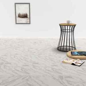 vidaXL-Self-adhesive-PVC-Flooring-Planks-5-11m-White-Marble-Tile-Laminate
