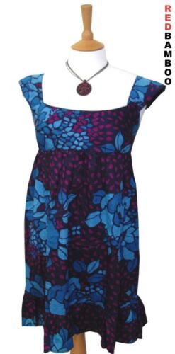Principles Blue Fuschia Cotton Tunic Dress Size 8 10