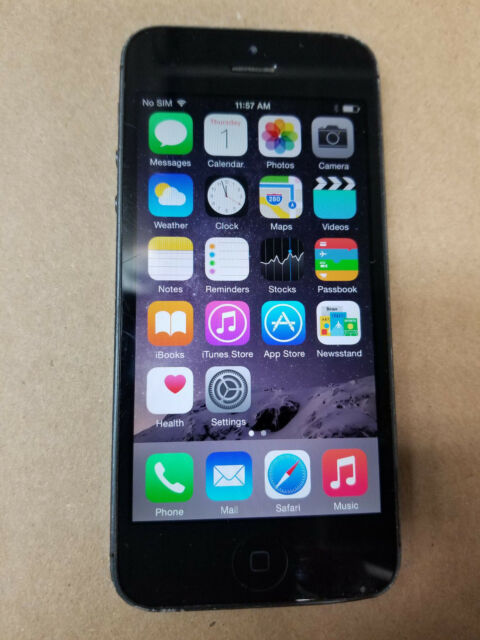 Apple iPhone 5 - 16GB - Black & Slate (Verizon) A1429 SOME WARE SEE PICS