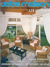 """VOTRE MAISON N° 232 """"OCTOBRE 1986""""--CAGES D'OISEAUX/LES TOITURES/LES SPAS"""