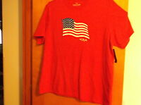 Brand Men's  Faded Glory Faded Red  American Flag T' Shirt