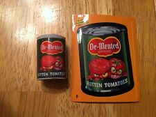 TOPPS WACKY PACKAGES ERASER SERIES 1 DEMENTED MONSTER ROTTEN TOMATOES #6 PACKS
