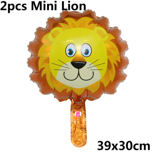 Toys Safari Jungle Animal Head Foil Balloon Tiger Lion Monkey Giraffe Cow