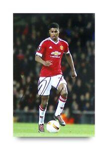 Marcus-Rashford-Signed-6x4-Photo-Manchester-United-Autograph-Memorabilia-COA