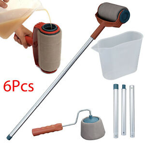 6pcs-Set-Paint-Pro-Roller-Brush-Set-Wall-Painting-Edge-Handle-Tool-Paint-Rollers