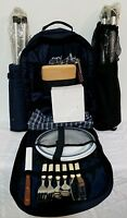 Picnic Time Wine And Cheese Picnic Backpack For Two 16pcs .2 Seats & Picnic Set