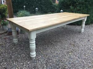 Groovy Details About 7 8 9 10 Ft Farmhouse Dining Table With Extra Wide Legs Solid Pine Handmade Pabps2019 Chair Design Images Pabps2019Com
