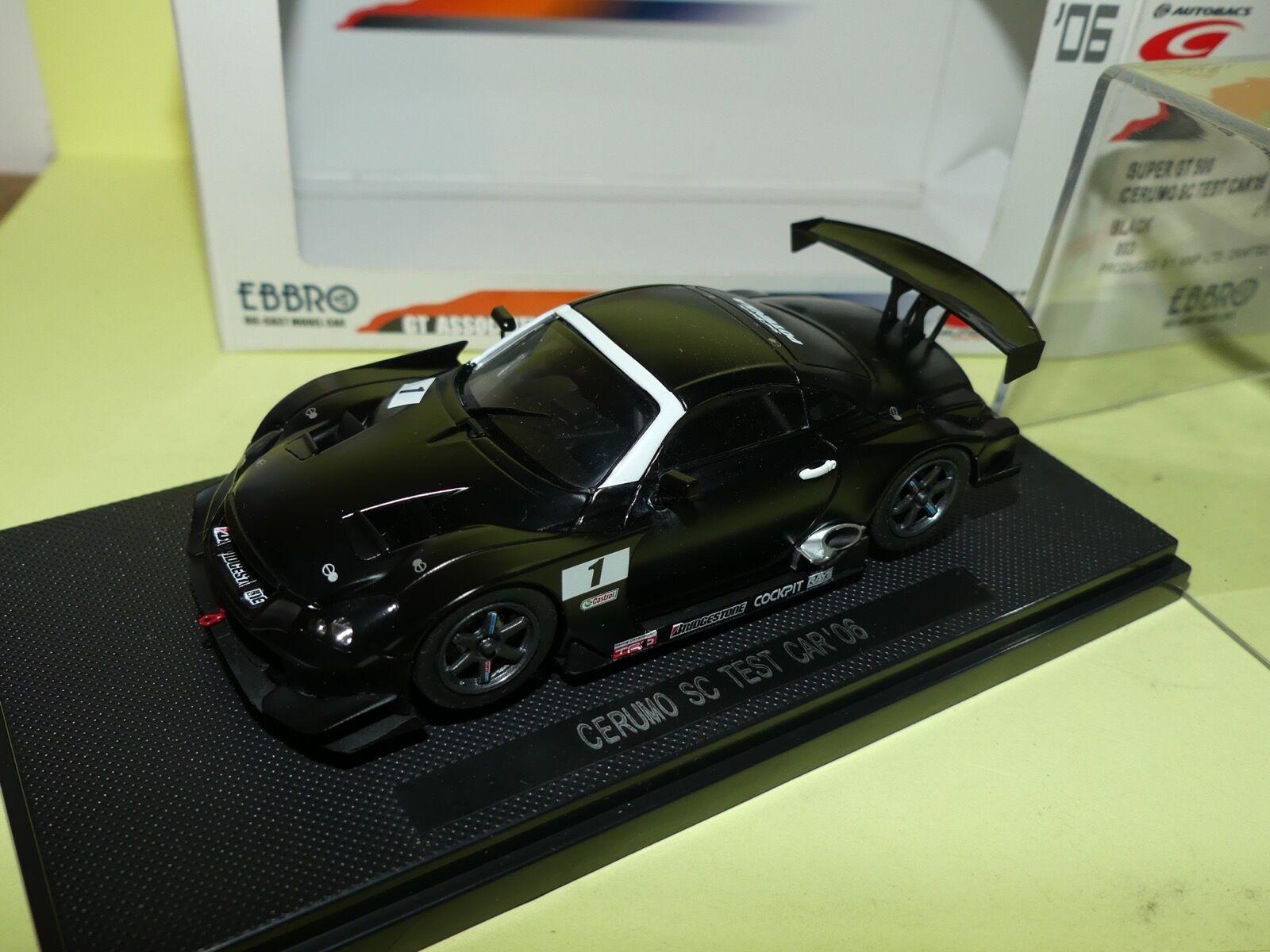 LEXUS SUPER GT 500 CERUMO SC TEST CAR 2006 EBBRO 803 1 43