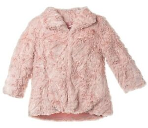d28008292 Minoti Girls Super Soft Plush Faux Fur Jacket - Age 3 4 Years