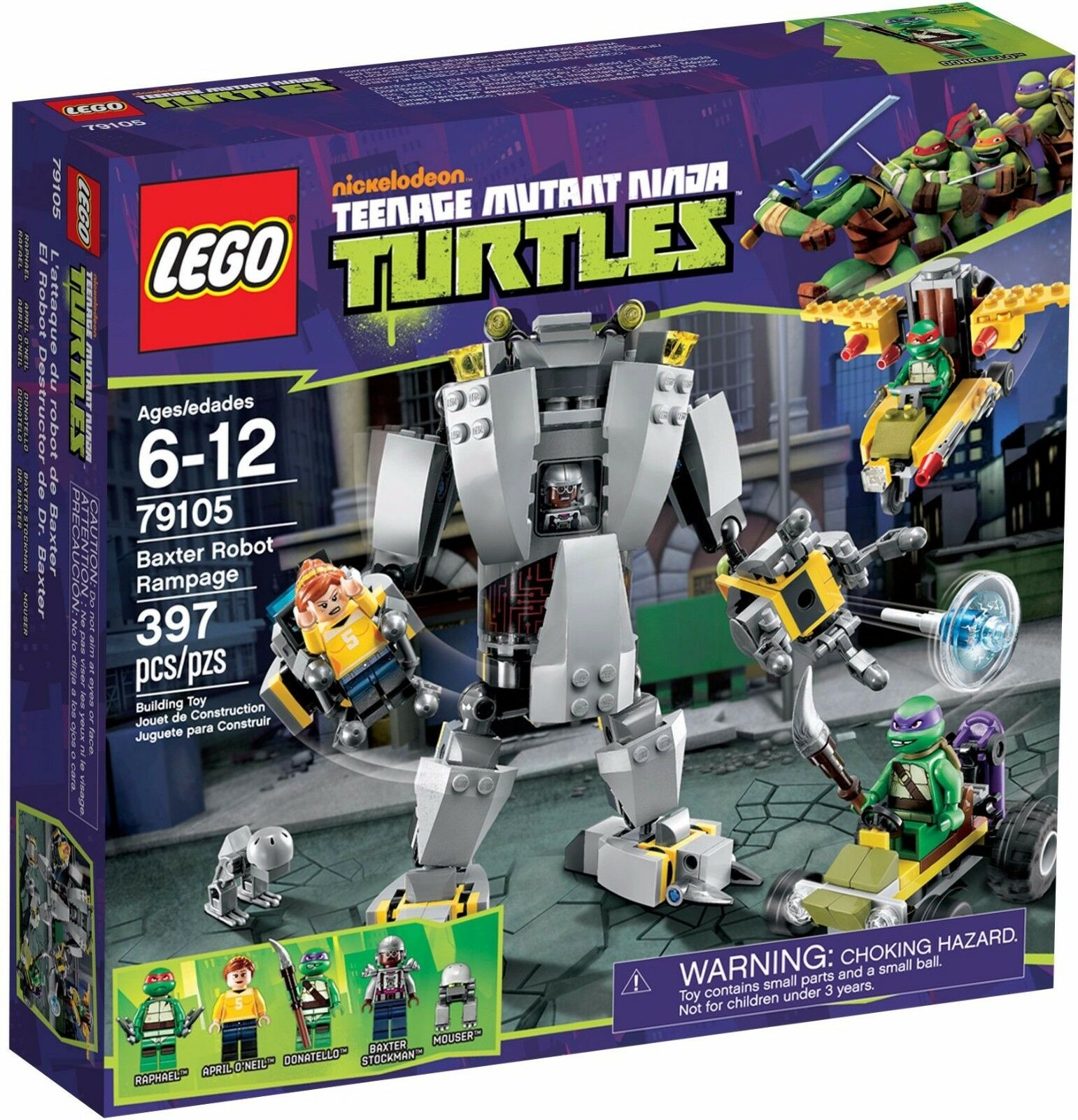 LEGO 79105 Teenage Mutant Ninja Turtles Baxter Robot Rampage - Bre nuovo Sealed