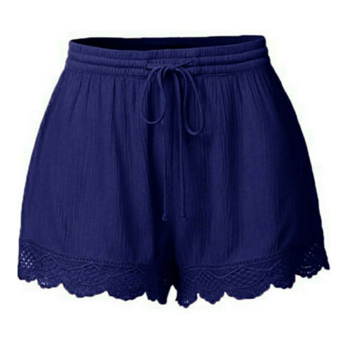 Fashion Women Lace Plus Size Rope Tie Shorts Yoga Sport Pants Leggings Trousers