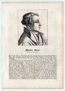Martin Buzer - Portrait-Holzschnitt 1854
