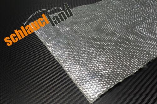 0,5m x 0,5m Alu-Fiberglas Hitzeschutzmatte selbstklebend***Turbo Auspuff Krümmer