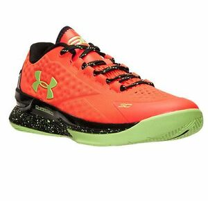 Image is loading Under-Armour-Curry-1-One-Low-bolt-orange-