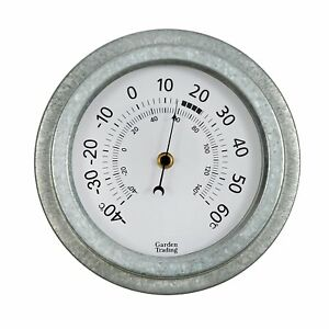 Vintage-Decorative-Outdoor-Wall-Mounted-Galvanised-Steel-Home-Garden-Thermometer