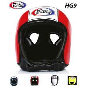 Details about FAIRTEX HG9 MUAY THAI KICK BOXING COMPETITION HEADGUARD OPEN  FACE HEAD GUARD MMA
