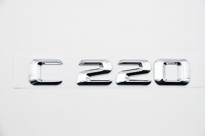 Chrome Letters Trunk Lid Rear Emblem Badge for Mercedes Benz C-CLASS C43