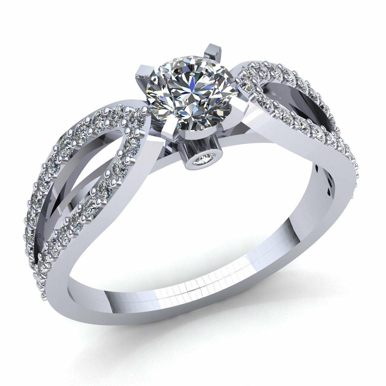 0.33ct Round Cut Diamond Ladies Solitaire Anniversary Engagement Ring 10K gold