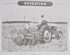 Ford Dearborn Reverisble Bush Amp Bog Disc Harrow 3pt Hitch Owners Manual 8n 2n 9n