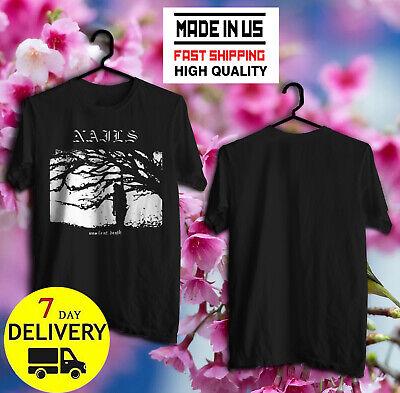 Nails Band Unsilent Death Hardcore Punk Band Men/'s Black T-Shirt Size S to 3XL