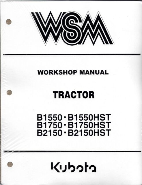 Kubota B1550 B1750 B2150 Hst Workshop Service Manual Repair Shop