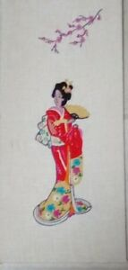 VINTAGE-CREWEL-NEEDLE-POINT-COMPLETED-ORIENTAL-COLORFUL-24-034-X-11-034