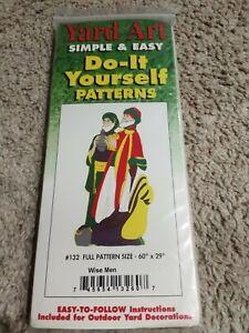 Yard art patter #132 wise men Christmas do-it-yourself pattern 745654132607   eBay