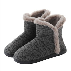 Women-Cozy-Plush-Fleece-Bootie-Slippers-Winter-Indoor-Outdoor-House-Shoes