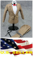 """❶❶1/6 clothes for 12"""" Male Figure Khaki Color Suit Full Set SHIP FROM US❶❶"""
