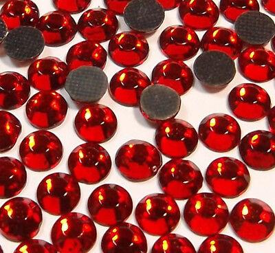 350 Hotfix Strasssteine 4mm SS16 ROT GLAS Bügelsteine SS10 Rhinestones BEST 24