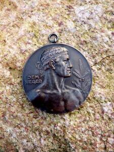 alte-Bronze-Sport-Medaille-Deutsche-Meisterschaften-Gewichtheben-1951-Dem-Sieger