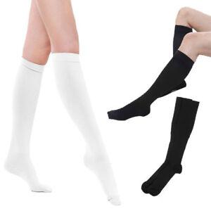 Angel KT Compression Socks Calf Foot Knee Pain Relief Stocking Black L//XL 1 Pair
