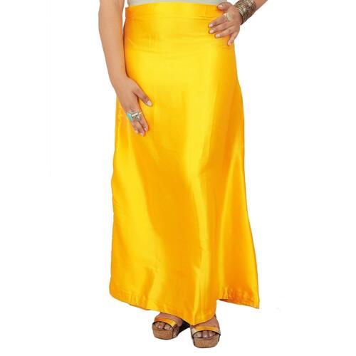 Satin Seide Saree Unterrock Sari Indisch Inskirt Rock Futter Unterbekleidung