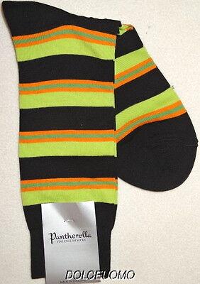 NEW men PANTHERELLA ENGLAND REG CALF FINE Cotton SOCKS Orange Black Beige s851