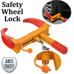 Wheel-Tire-Lock-Clamp-Car-Vehicle-SUV-Heavy-Duty-Anti-Theft-Tyre-Claw-w-3-Keys