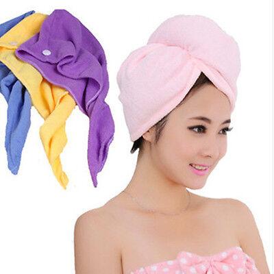 Neu Mikrofaser trocknendes Handtuch Haar eingewickelt Turban-Hut-Kappen-Tuch