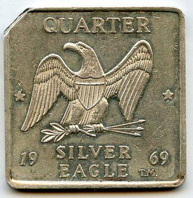 1969 Quarter Eagle .999 Silver Art Medal - Walla Washington 1/4 oz Troy - AG553