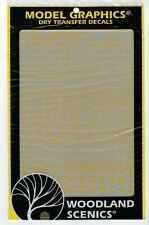 Woodland SCENICS COND Gotico RR LETTERE WHT 1//16-5//16 MG738