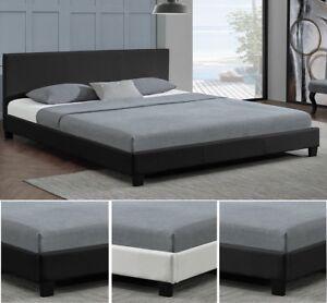 Design-en-Cuir-relax-Lit-Sommier-Double-140-160-180-x-200-bed-BLANC-NOIR-ou-GRIS