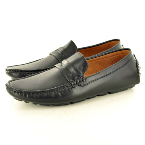 Men/'s Leather Look Casual Loafers Moccasins Slip on Driving Shoes UK Sizes 6-11